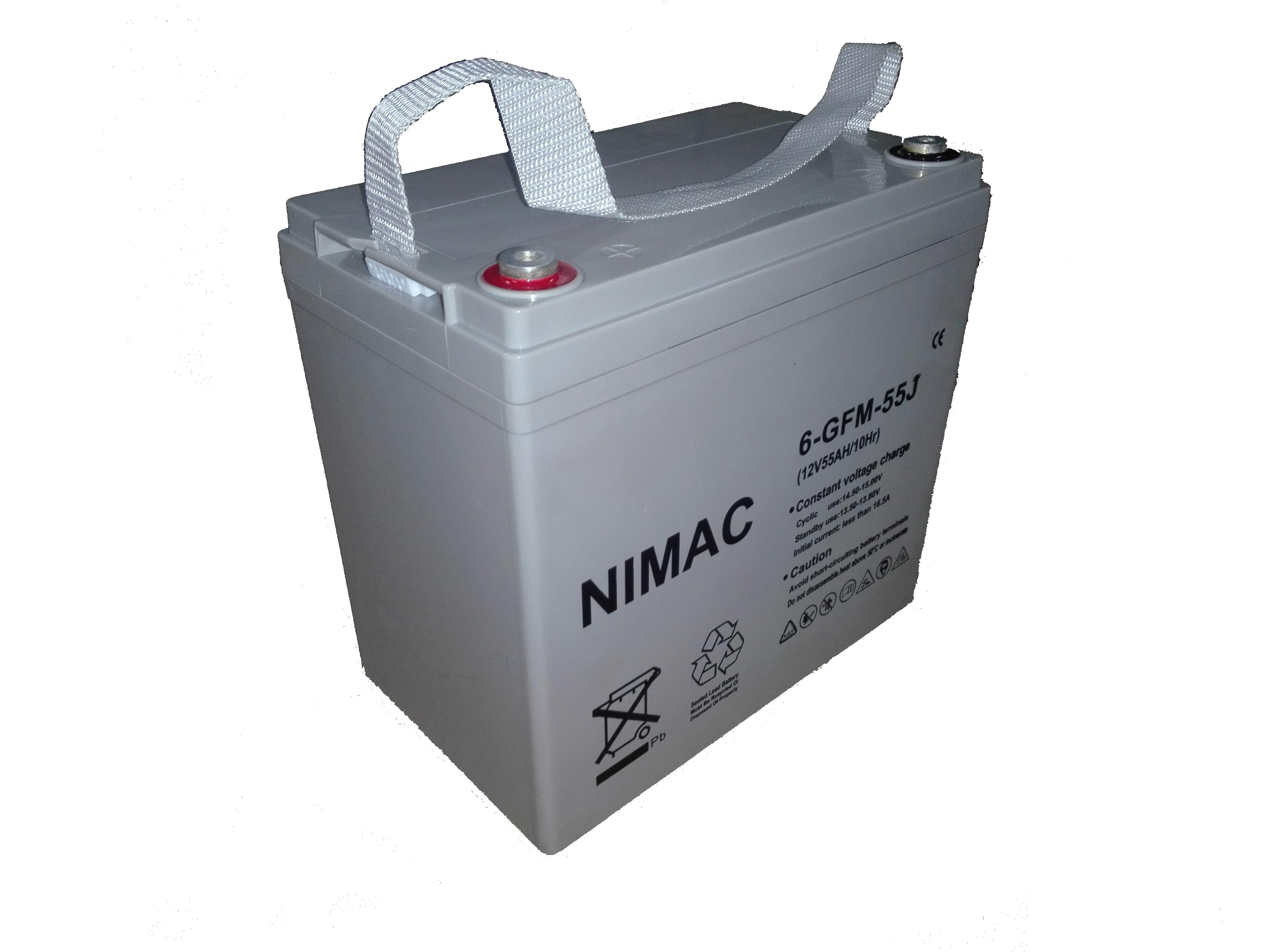 Bateria Nimac GEL, Ciclo Profundo 55 AH, 12 V